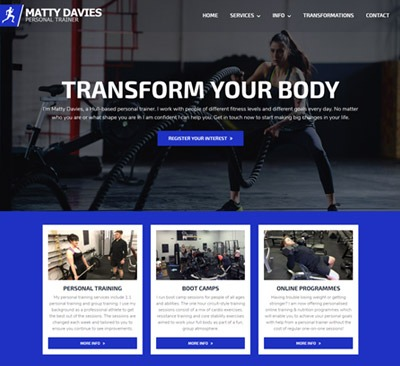 Matty Davies web design Hull