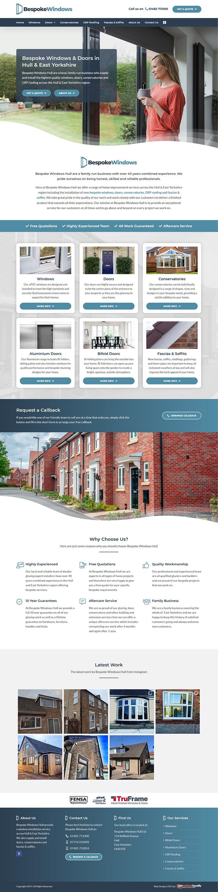 Web Design for Bespoke Windows Hull