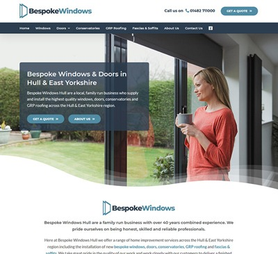 Web Design for Bespoke Windows Hull