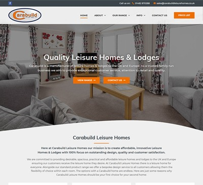 Web Design for Carabuild Leisure Homes