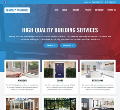Web Design for Ferriby Windows Hull