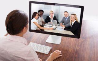 Businesswoman Watching An Online Presentation