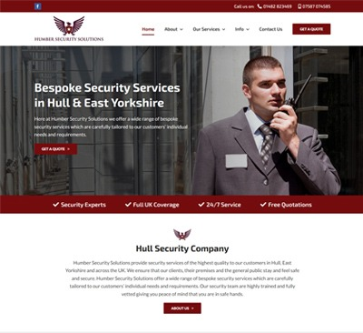 Web Design for Humber Security Solutions