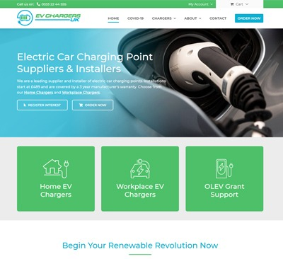 E-commerce Web Design for EV Chargers