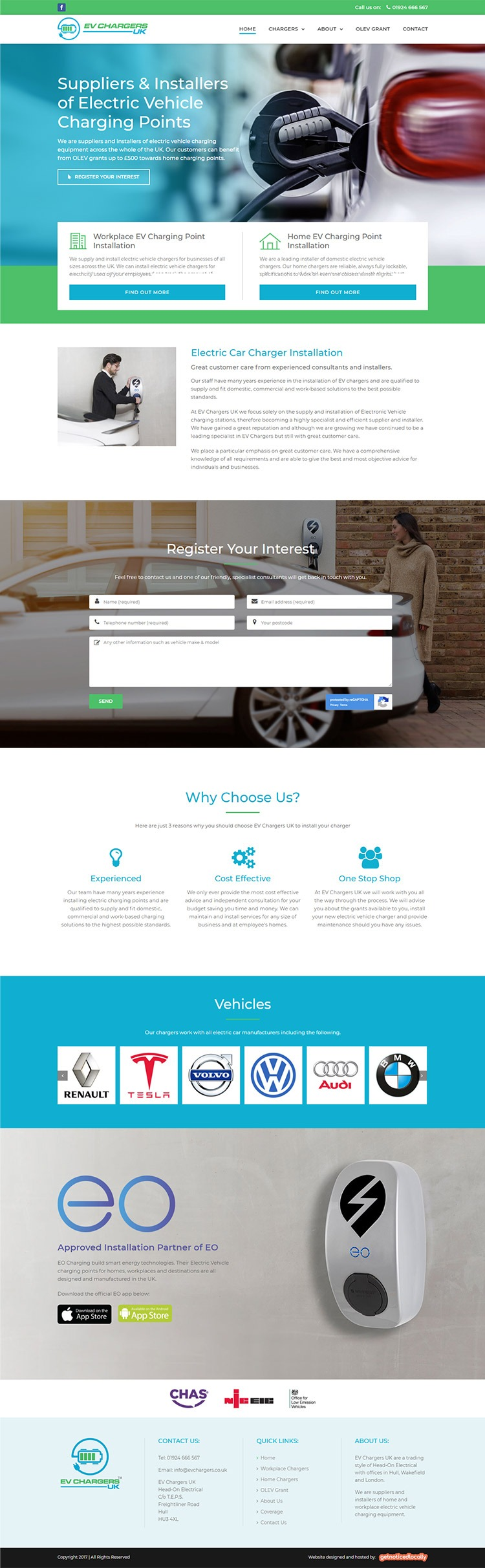 EV Chargers Hull website design