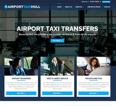 Airport Taxi Hull web design