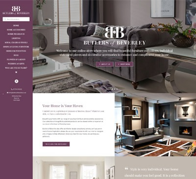 Butlers of Beverley web design