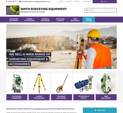 Smith Surveying Hull web design