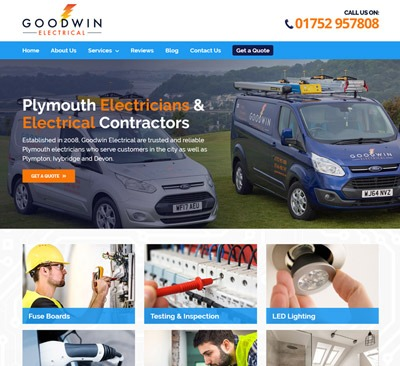 Goodwin Electrical web design