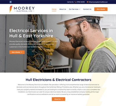 Web Design for Moorey Electrical Hull