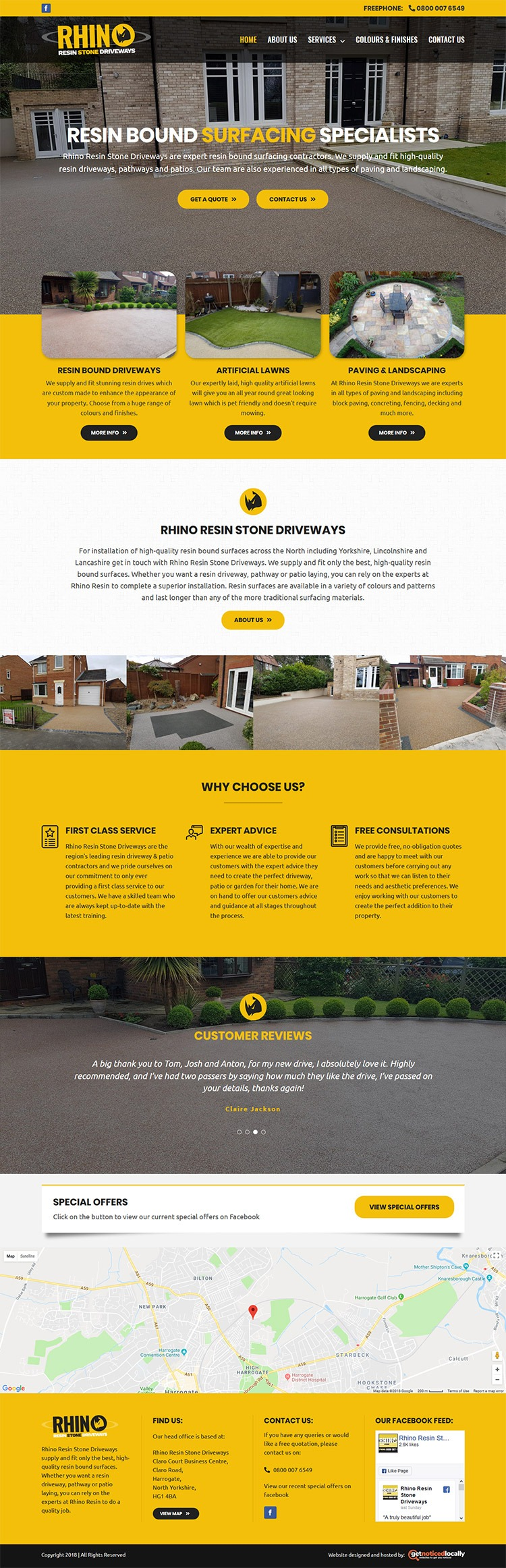 Rhino Resin website layout