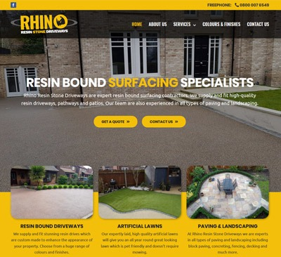 Rhino Resin web design