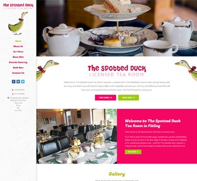 Spotted Duck East Yorkshire web design