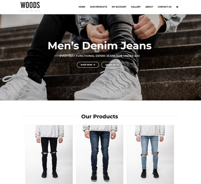 Woods Clothing Website