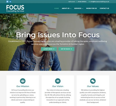 Focus Counselling Website Design
