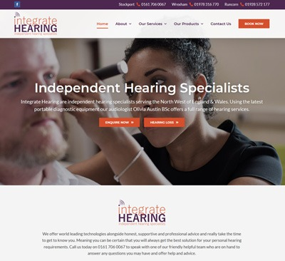 Web Design for Integrate Hearing