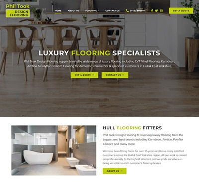 Web Design for Phil Took Design Flooring Hull