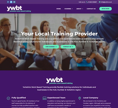Web Design for Yorkshire Work Based Training