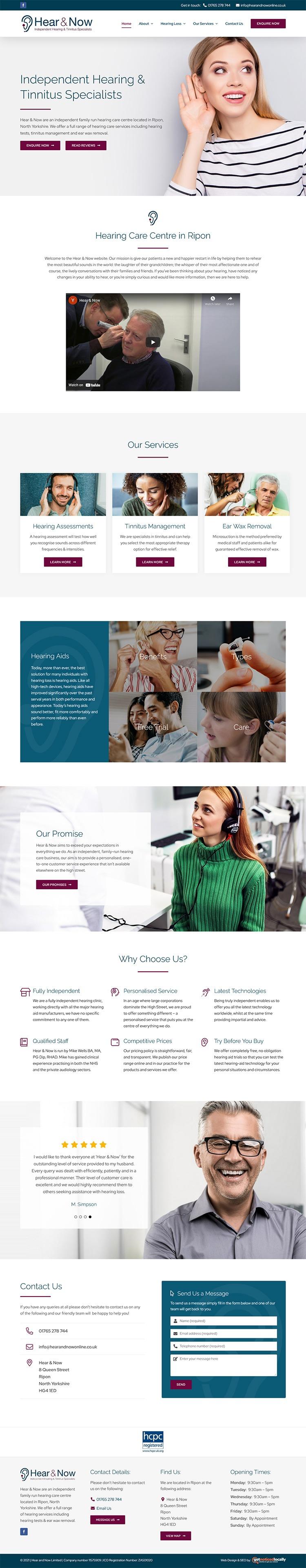 Website Design for Hear & Now