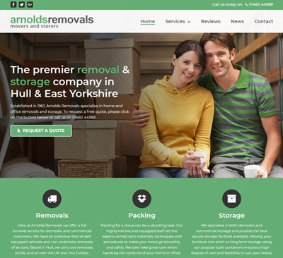 Arnolds Removals website