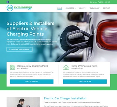 EV Chargers Hull web design