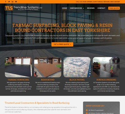 Trendline Systems web design