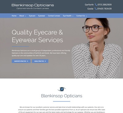 Blenkinsop Opticians Website