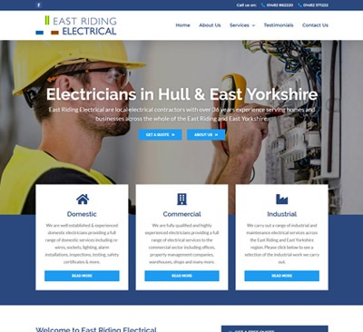 East Riding Electrical Web Design