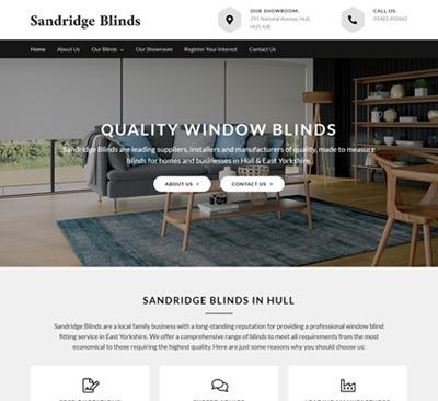 Sandridge Blinds Hull Web Design